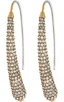 Michael Kors Pave Drop Earring - Lyst