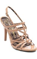 Jessica Simpson Primrose Metallic Highheel Sandals - Lyst