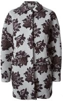 MSGM Floral Print Coat - Lyst