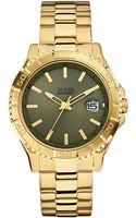 Guess Mens Goldtone Steel Bracelet Watch 42mm - Lyst