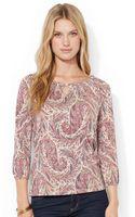 Lauren by Ralph Lauren Petite Paisley Cotton Shirt - Lyst
