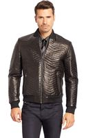 Hugo Boss Nyrik  Leather Bomber Jacket - Lyst