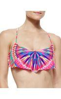 Mara Hoffman Printed Strappy Flutter Bikini Top - Lyst