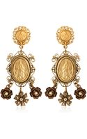 Dolce & Gabbana Gold Plated Pendant Earrings - Lyst