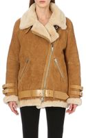 Acne Studios Velocite Oversized Shearling Jacket - Lyst
