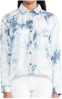 Michael Stars High Low Button Down Shirt - Lyst