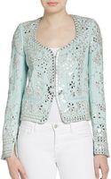 Emilio Pucci Embellished Wool  Silk Jacket - Lyst