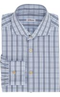 Kiton Plaid Fitted Shirt - Lyst