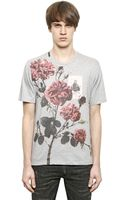 Dolce & Gabbana St Francis Flowers Cotton Tshirt - Lyst