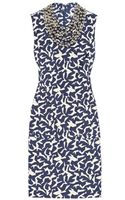 Diane Von Furstenberg Noralie Embellished Printed Twill Dress - Lyst