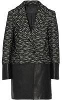 Belstaff Wool Blendleather Benmore Coat - Lyst