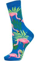 Topshop All Over Flamingo Print Ankle Socks - Lyst