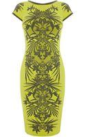 Karen Millen Jungle Jacquard Knit Dress - Lyst
