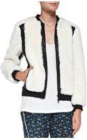 Pam & Gela Leather-trim Jacket - Lyst