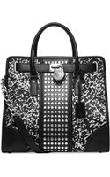 Michael Kors Michael Hamilton Center Stripe Studded Large Tote - Lyst