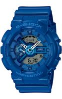 G-shock Mens Analogdigital Blue Resin Strap Watch 55x51mm Ga110bc2a - Lyst