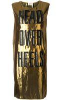 Lanvin Metallic Dress - Lyst