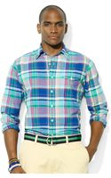 Polo Ralph Lauren Polo Madras Bleecker Pocket Sport Shirt - Lyst