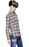 DSquared2 Plaid Cotton Flannel Shirt - Lyst