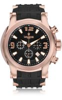 Lancaster Bongo Chrono Stainless Steel Mens Watch W Rubber Strap - Lyst