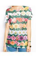 Jaded London Tshirt with Garden Flower Print - Lyst