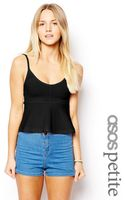 Asos Exclusive Textured Peplum Cami - Lyst