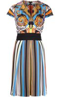 Etro Cummerbund Printed Silk Dress - Lyst