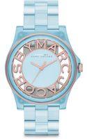 Marc By Marc Jacobs Rose Goldtonefinished Stainless Steel Nylon Cutout Link Bracelet Watch - Lyst