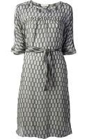 Etoile Isabel Marant Sheer Printed Dress - Lyst