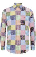 Polo Ralph Lauren Cotton Patchwork Shirt - Lyst