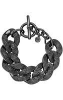 Michael Kors Pave Curbchain Bracelet Black - Lyst
