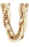 Kate Spade Twisted Faux Pearl and Pave Necklace - Lyst