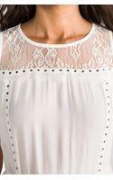 Ella Moss Chrissie Dress in Ivory - Lyst