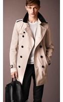 Burberry The Kensington Midlength Cotton Trench Coat - Lyst