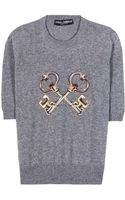 Dolce & Gabbana Embroidered Cashmere Sweater - Lyst