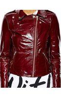 Muubaa Carmona Patent Leather Biker Jacket - Lyst
