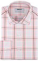 DKNY Slim Fit Large Plaid Dress Shirt - Lyst