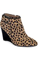 Isaac Mizrahi New York Winona Cheetah Print Wedge Booties - Lyst