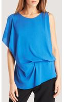 Kenneth Cole Brandon Drape Front Blouse - Lyst