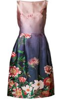 Oscar de la Renta Printed Dress - Lyst