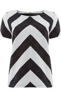 Pied A Terre Chevron Shell Top - Lyst
