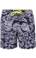 Tommy Hilfiger Paisley All Over Print Swim Short - Lyst