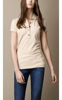 Burberry Check Placket Polo Shirt - Lyst