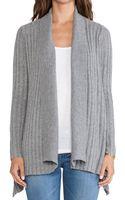 Autumn Cashmere New Rib Drape Sweater - Lyst