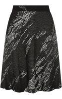 BCBGMAXAZRIA Karlie Printed A-Line Skirt - Lyst