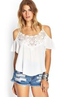 Forever 21 Open Shoulder Peasant Top - Lyst