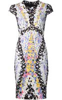 Peter Pilotto Stretch Print Dress - Lyst