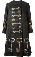 Dolce & Gabbana Key Print Overcoat - Lyst