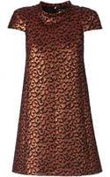 Saint Laurent Boxy Jacquard Dress - Lyst