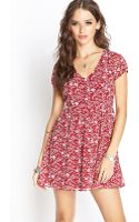Forever 21 Crepe Woven Floral Dress - Lyst